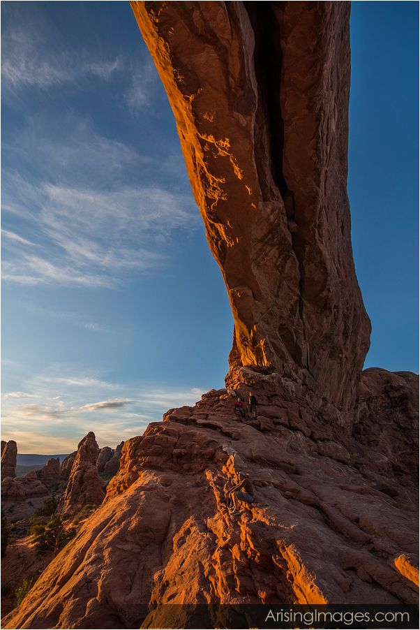 sunrise from the north window, arches national park