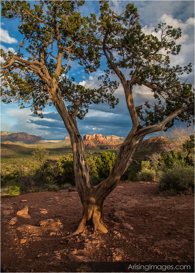 clouds over red rocks in sedona, az
