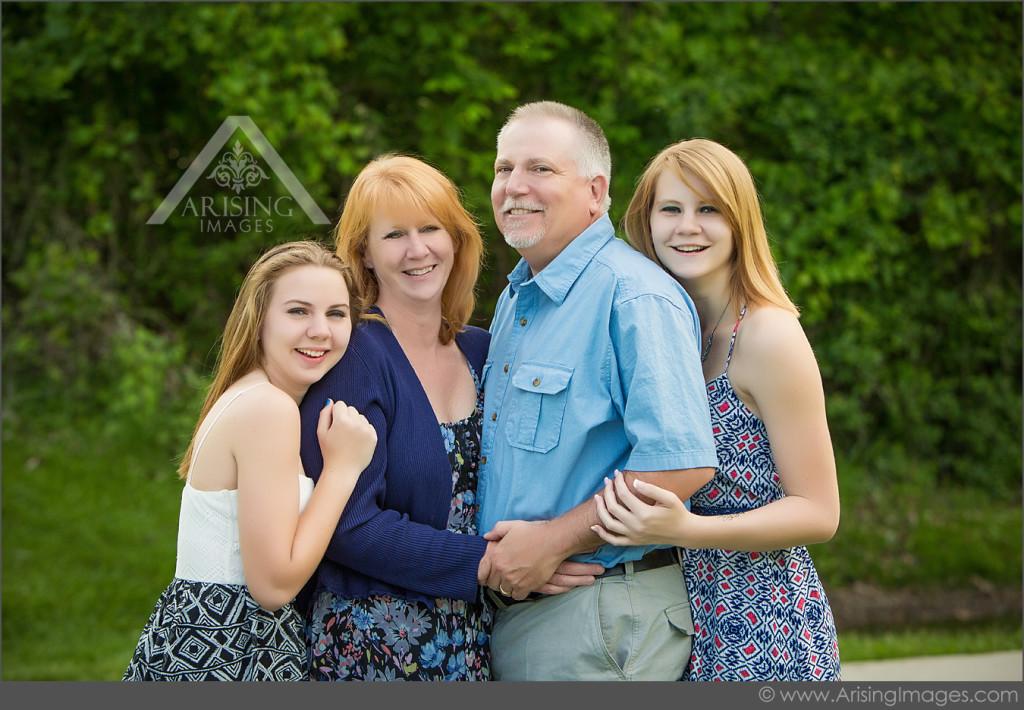 Michigan family portrait session in Rochester
