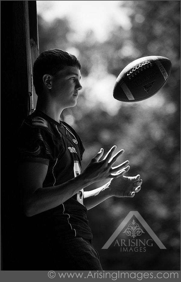 Cool football senior pictures