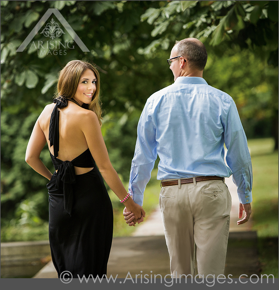 Summer engagement photos at Cranbrook