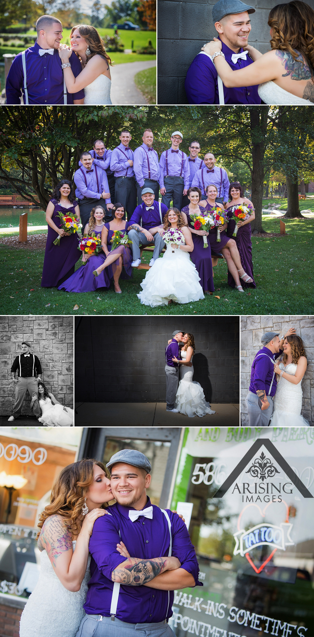 Edgy Detroit Wedding Photography