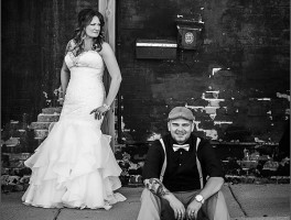 Cool black and white wedding photos