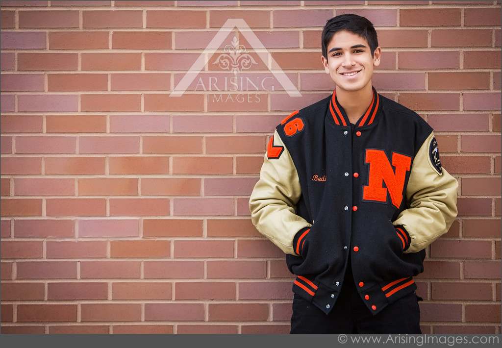 Senior pictures with letterman jackets