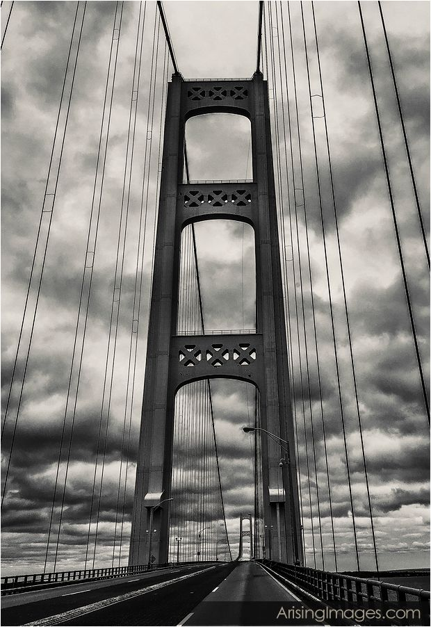 Gloomy Mackinaw Bridge