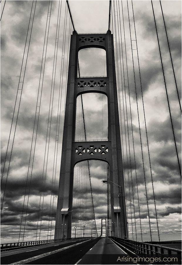 Gloomy Mackinaw Bridge