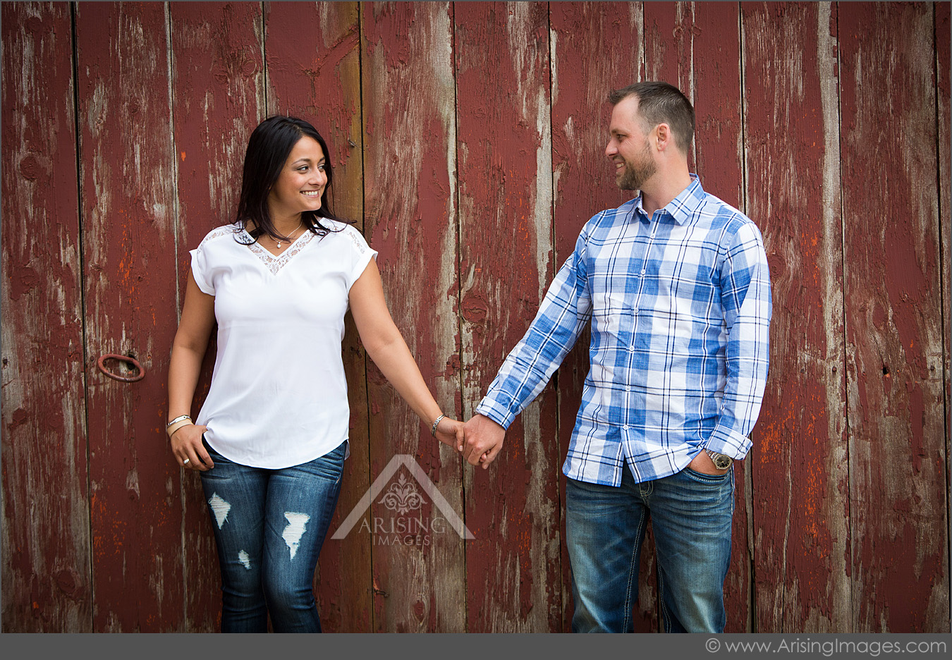 engagement photos at our farm in michigan