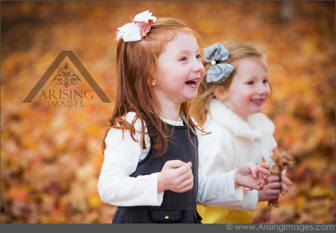 autumn kids portraits