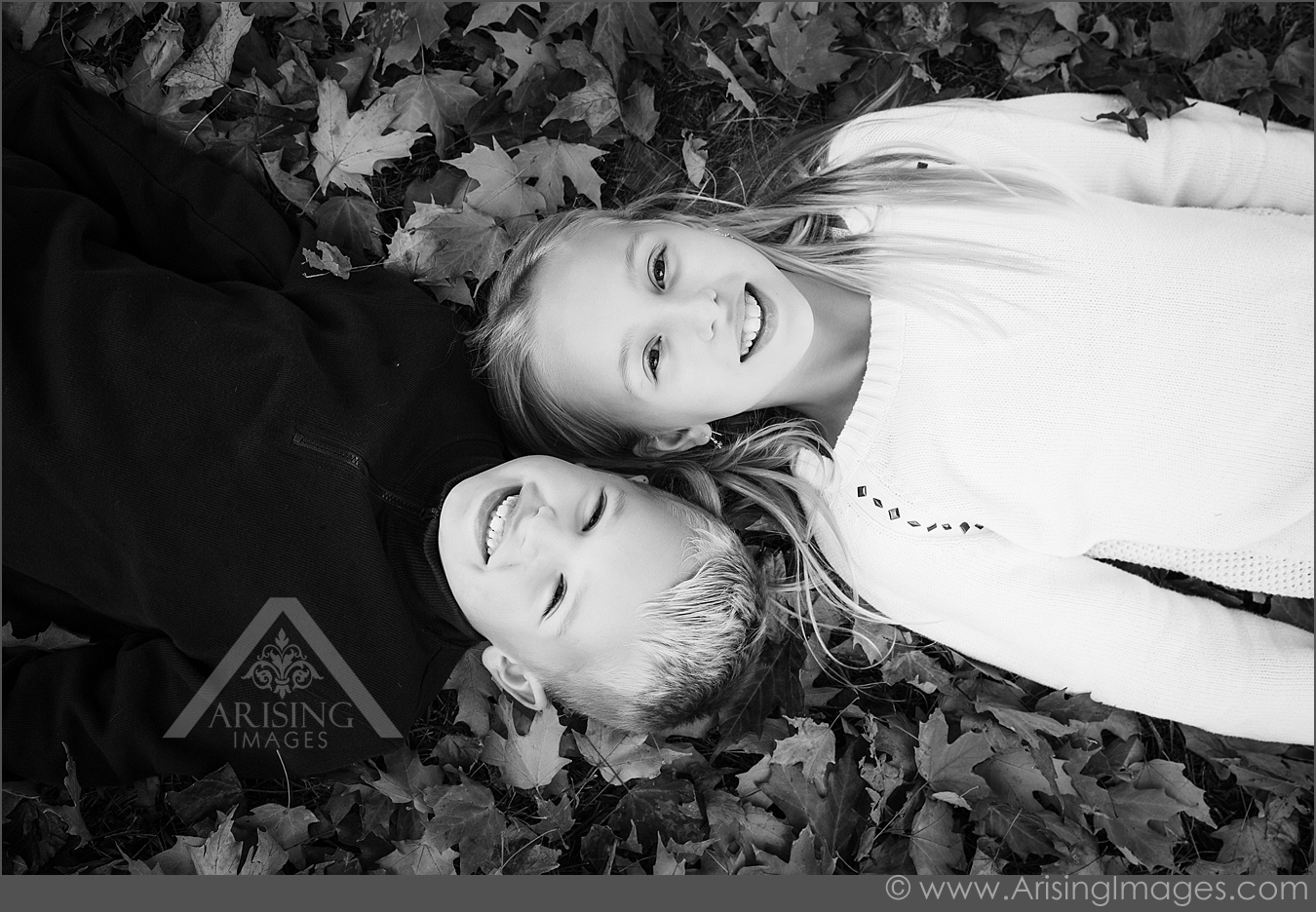 autumn portraits of kids in michigan