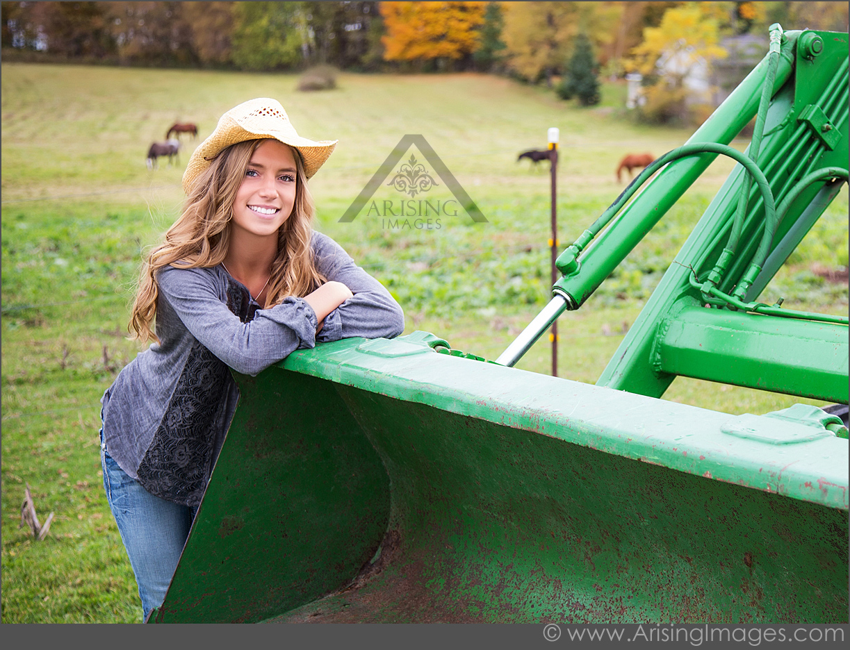 country senior photos in michigan