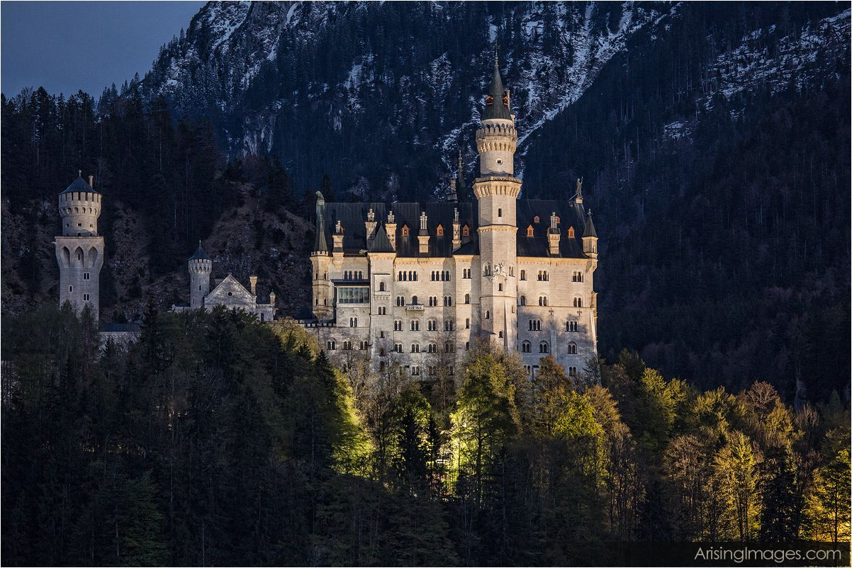 Neuschwanstein Castle night