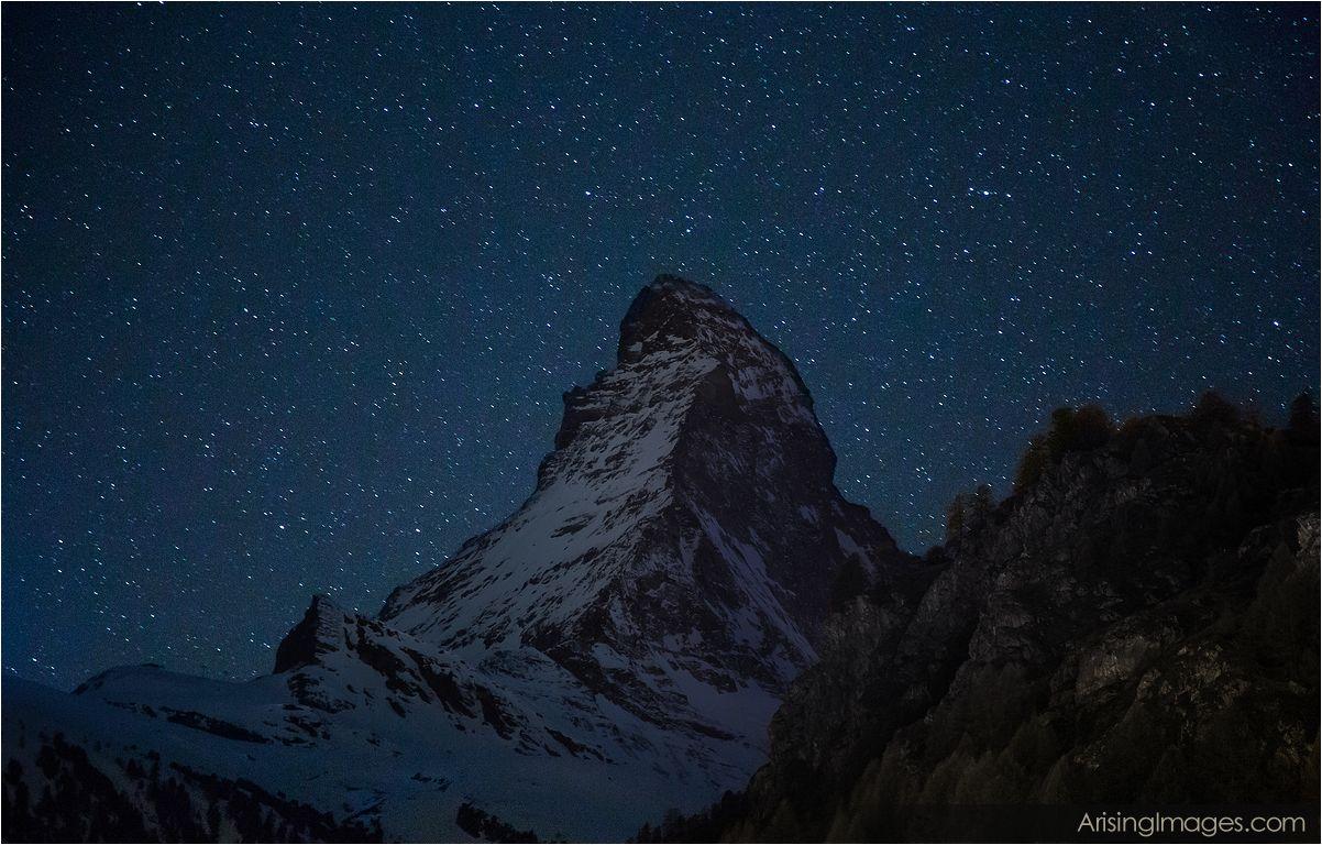 The Matterhorn with Stars