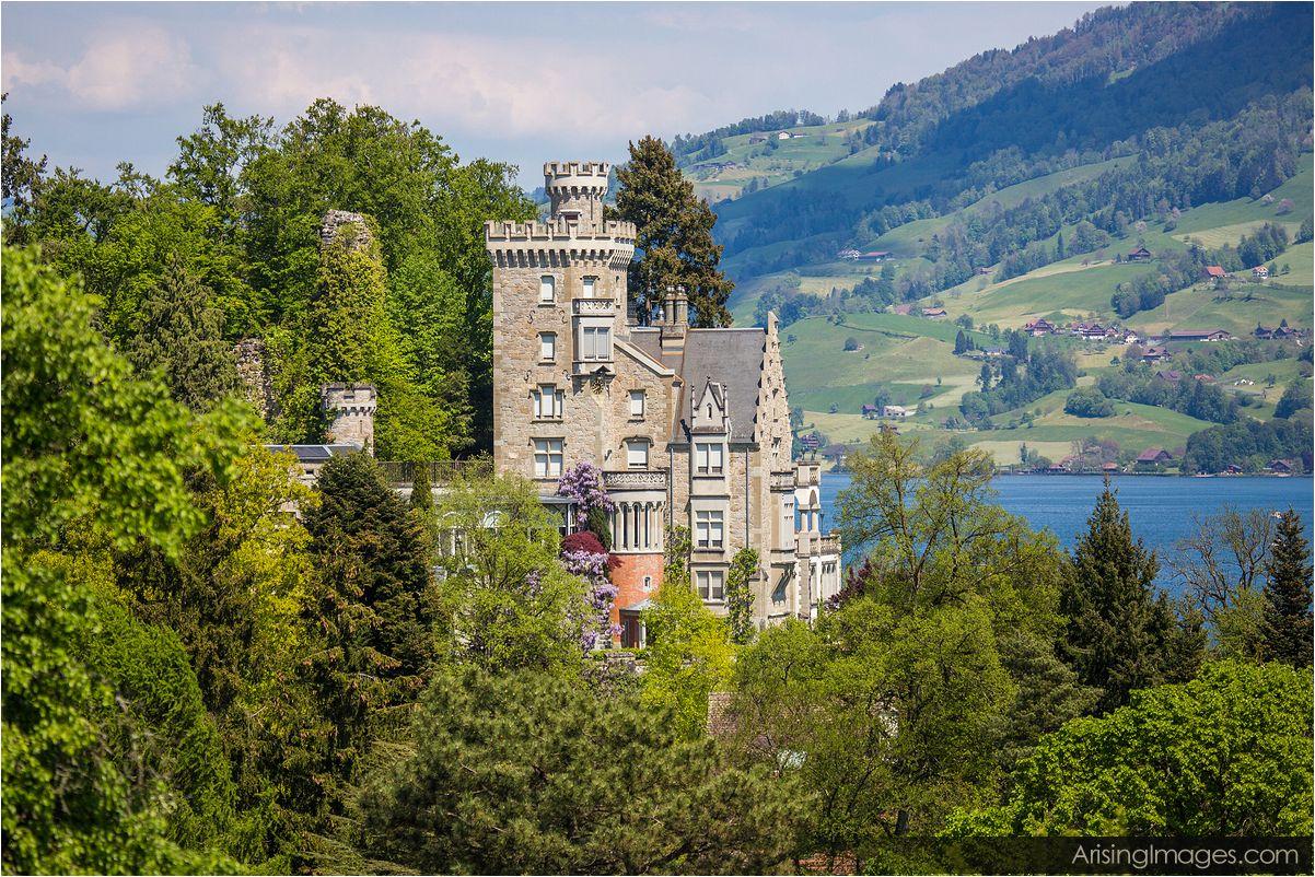 Neuhabsburg castle lake lucerne