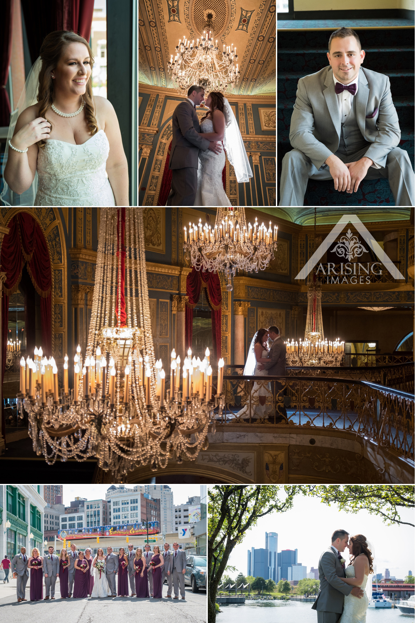 Detroit Opera House Wedding Photography
