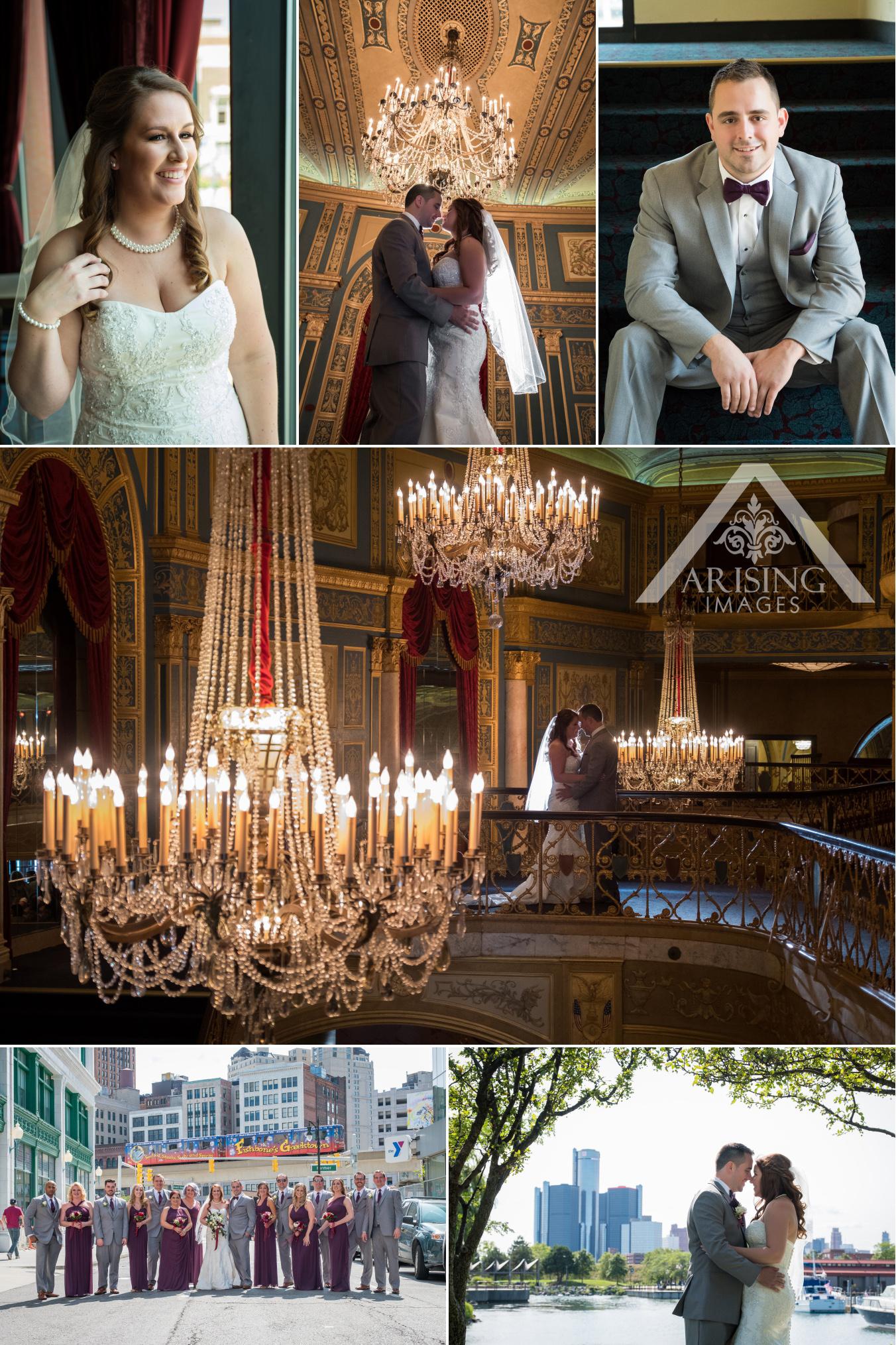 Detroit Opera House Wedding Photography